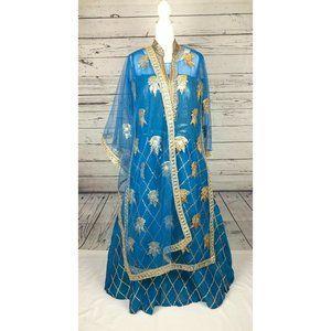 Indian Pakistani Women Long Dress Wedding Party We